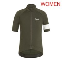 team road ciclismo camisetas mujeres al por mayor-Pro Women RAPHA team Ciclismo Jersey manga corta tops Cycling Shirt Summer transpirable bicicleta de carretera ropa 53185