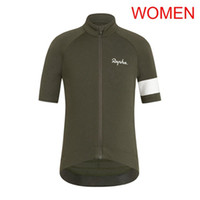 Wholesale team road cycling jerseys women resale online - Pro Women RAPHA team Cycling Jersey Short Sleeve tops Cycling Shirt Summer Breathable road Bicycle Clothes