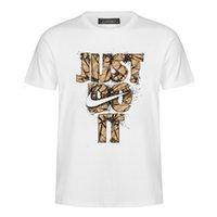 t-shirt long lâche pour homme achat en gros de-Lettre de mode d'impression T-shirts pour hommes Casual T-shirt à manches courtes col rond T-shirt en vrac Fix Tops Tees t-shirt MC75