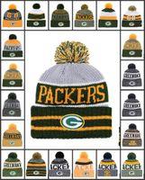 ingrosso vendita delle baia-Commercio all'ingrosso Green Bay Sport Cappelli invernali Packers cucita squadra Logo Marca caldo uomo donna Vendita calda berretti a maglia a buon mercato misto berretti