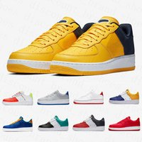 ingrosso scarpe a nastro-nike air force 1 one air forces shoes Di alta qualità Split Skeleton Utility Nero White Dunk 1 Scarpe casual Scheletro Obsidian Uomo Donna Ribbon-Pack Sneakers sportive basse