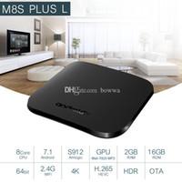 Wholesale m8s plus tv box resale online - M8S Plus L Amlogic S912 Octa Core Android TV GB Ram GB Rom K HD HDR Android Set Top TV Box