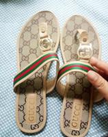ingrosso fondo americano-Pantofole da fondo morbide antiscivolo in pelle stampata moda estiva per uomo europeo ed americano, da indossare all'esterno