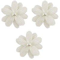 blumenmädchen weiße haarclips großhandel-White Pearl Haar Blume mit Haar-Klipp für Mädchen Kinder-Boutique Blume geformt Haarnadeln Zubehör