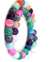 contas de pedras de ônix colares venda por atacado-Multi 4mm 8mm 6mm 10mm weathered ágatas pedra natural beads geada ônix rodada contas soltas diy colar pulseira brincos diy fazer jóias