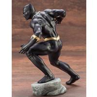 Wholesale big toy garage resale online - Avengers Comic Hero ART Panther Black Panther Boxed Garage Kits