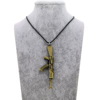 Wholesale counter strike guns for sale - Group buy Original New Novelty Counter Strike Men s Gun Pendant Necklace Vintage Gold Necklace Men Jewelry Collares Gift