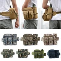 Wholesale canvas water bottle resale online - Tactical Men Hip Waist Belt Bag Small Pocket Running Pouch Outdoor Travel Camping Bags Phone Case Bags Water Bottle Bag