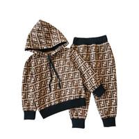 ingrosso moda bambino maschile-In vendita 2018 Autunno e inverno Nuovo modello Trend Maschio ragazza Motion Leisure Suit Fashion Abbigliamento per bambini