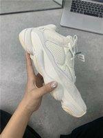 zapatillas super al por mayor-2019 Designer 500 Bone White Kanye West Zapatillas de running Hombre Zapatillas Super Moon Yellow Blush Desert Rat 500 Zapatillas deportivas