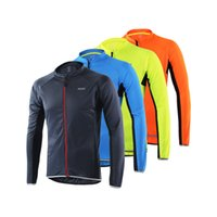Wholesale bicycle bike cycling clothing resale online - Windbreak Quick Drying Mountain Bike Jackets Spring And Summer Cycling Wear Man With Zipper Bicycle Clothes For Man arH1