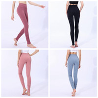 Wholesale women yoga pants online - Women Skinny Leggings Colors Sports Gym Yoga Pants High Waist Workout Tight Ninth Yoga Leggings LJJO6332