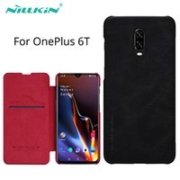 Wholesale oneplus 6t cases online – custom for OnePlus t Case cover Vintage Qin Flip Cover wallet PU leather PC back cover for one plus t case oneplus t