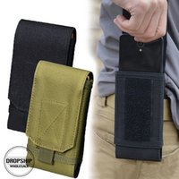 Wholesale waterproof phone holder online – Outdoor Camouflage Bag Tactical Army Phone Holder Sport Waist Belt Case Waterproof Nylon EDC Sport Hunting Camo Bags in Backpack