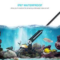 Wholesale waterproof video camera hdmi resale online - 100pcs M mm Lens USB Endoscope Waterproof LED Borescope Tube Inspection Video Photo Capture Mini Camera with CD black