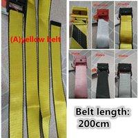cintos amarelos venda por atacado-17b novas lona de alta qualidade da moda homens cinto branco de lazer cinto amarelo dourado bem-feito de lona cintos homens mulheres 200 centímetros