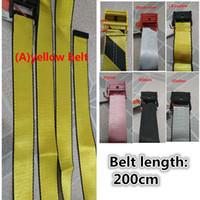 cinturones de lona de alta calidad al por mayor-17b nuevo lienzo de alta calidad de moda hombres cinturón blanco de ocio cinturón amarillo de oro bien hechos lienzo cinturones de hombres mujeres 200cm