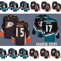 homens hóquei camisas venda por atacado-Getzlaf Anaheim Ducks hóquei Jerseys 17 Ryan Kesler 15 Ryan Getzlaf 10 Corey Perry Homens Jerseys Getzlaf