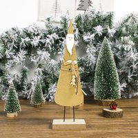 Wholesale kids crafts home for sale - Group buy Craft D Decorations Party Santa Claus Ornament Dispaly Home Table Top Gifts Christmas Snowman Kids Wooden Printed