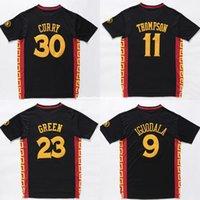 çin mayo ücretsiz kargo toptan satış-Toptan Çin # 11 KT Jersey # 23 DG Jersey Dikişli Basketbol Forması Gömlek Ücretsiz Kargo Ncaa Koleji