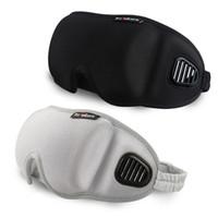 máscara preta para dormir venda por atacado-3D Eye Cover Máscara de Dormir Sombra de Viagem Escritório Sono Mulheres Homens Óculos Respirável Suave Ajustável Eyepatch Venda RRA1868 Preto