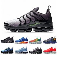 Wholesale discount outdoor sports for sale - Group buy Discount VOLT Cushion TN Plus Running Athletic Shoes Work Blue Zebra Wolf Grey TRIPLE BLACK Women Mens Outdoor Trainer Sports Sneakers