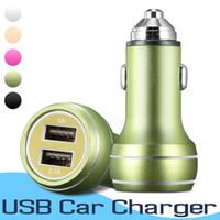 station de recharge de téléphone portable achat en gros de-Chargeur de voiture universel double USB 5V 2A mini chargeur de charge rapide pour téléphone mobile téléphone intelligent Huawei Samsung iPhone X