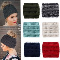 Wholesale stretch hair accessories resale online - Knitted Headbands Headwear For Women Winter Warm Crochet Stretch Twist Head Band Turban Hair Accessories MMA2352