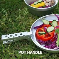 Wholesale pot camping handles for sale - Anti Scalding Pot Clip Aluminium Alloy Anti Wear Outdoors Camp Portable Picnic Barbecue Kitchen Tools Ultra Light Pots Handle gtI1