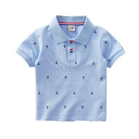 Wholesale printed polo shirt designs for sale – custom Boutique Boys clothes Polo shirt Anchor Sailboat Dinosaur Print Polos Tops Cotton Breathable Designs M T T T T T
