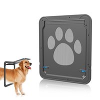 Wholesale pet gates dogs for sale - Group buy Pet Screen Door Window Screen Dog Cat Gate Puppy Automatic Magnetic Lockable Flap Net Flap Safe Door Gate LJJA2336