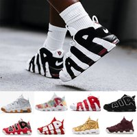 Wholesale table tennis olympics resale online - 2019 New QS Olympic Varsity Maroon more Mens Basketball Shoes M Scottie Pippen air Uptempo Chicago Trainers Sports Sneakers Size