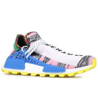 Wholesale mens trail running shoes online - PW Hu Holi Trail X Human Race Pharrell Williams Mens Running Shoes Youth Peace Creme Nerd BBC Solar Pack Womens Trainers Sports Sneakers