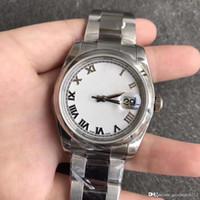 moda relógios de plástico preto venda por atacado-assistir relógio de designer 2.813 movimento de 36 milímetros 316L caixa de aço inoxidável esportes corda automática Datejust de luxo para homem