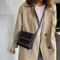 Wholesale lining bags for sale - Group buy Women Contrast Bag new simple line personality Crossbody Chain Bag Wild Khaki Single Shoulder Small Square H