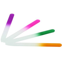 Wholesale nail art buffers resale online - Colorful Glass Nail Files Durable Crystal File Nail Buffer NailCare Nail Art Tool for Manicure UV Polish Tools RRA878
