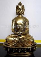 Wholesale antique statues imitation resale online - Copper Brass CHINESE crafts decor ation Asian Tibetan Amitabha bronze buddha statue