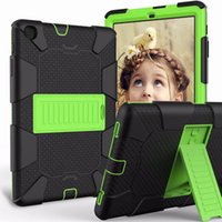 Wholesale samsung keyboard case resale online - Heavy Duty Hybrid Shockproof layer Kickstand Case Cover for Samsung Tab A T510 Tab A T387 T290