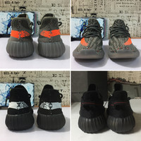 Wholesale children black shoes online - With Box Kids Children Youth V2 Cream All White Zebra Bred Beluga Black Red White Kany West Running Shoes Sport Sneakers