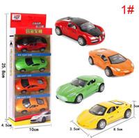 mini autobuses al por mayor-1:64 modelo de coche de aleación de simulación mini pull back car set Diecast Model Cars juguetes educativos para niños