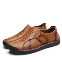 Wholesale casual high boat shoes for sale - Group buy New Casual Shoes Men Luxury Leather Flats Male Loafers High Quality Boat Men Shoes Moccasins Slip on Male Loafers Big Size