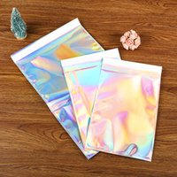 Wholesale New Laser Self Sealing Plastic Envelopes Mailing Storage Bags Holographic Gift Jewelry cosmetics Poly Adhesive Courier Packaging Bags