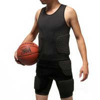 Wholesale basketball support gear resale online - Basketball Anti Collision Clothing Rugby Honeycomb Vest Sleeveless Black Protective Gear Durable Practical Simple Strong Hot Sale sm D1
