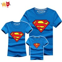 Wholesale mommy daughter clothing matching online - good quality Superman Family Matching T shirts Quality Cotton Summer Style Mother and Daughter Father and Son Clothes Mommy and Me