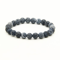 ingrosso doni vena-Braccialetti di perline di alta qualità all'ingrosso Colori della miscela 8mm Blu, rosso, verde Agenti atmosferici Dragon Veins Onyx Pietra Braccialetto di energia per regalo