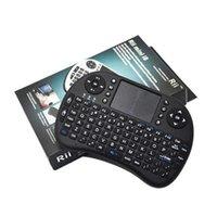 ingrosso tastiera del mouse del mouse rii i8-Rii I8 intelligente Fly Air mouse Pods 2.4 GHz Wireless Bluetooth Tastiera Touchpad bianco Multi-color retroilluminato S905X S912 Android TV Box T95 X96