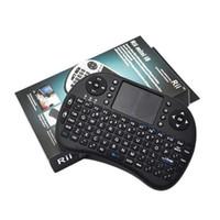 teclado de color android al por mayor-Teclado de Rii I8 inteligente Fly Air ratón vainas de 2,4 GHz Wireless Bluetooth Touchpad Blanca Multi-color retroiluminada S905X S912 Android TV Box T95 X96