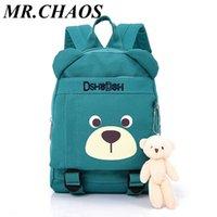 ingrosso baby backpacking-2019 vendita calda moda bambini sacchetti di scuola orso del fumetto zaino bambino bambini sacchetto di libri asilo ragazzo ragazza zaino in spalla