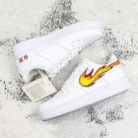 eva chinesisch großhandel-New Forced 1 Skateboard Schuhe Spielen mit Feuer Chinesische Schriftzeichen Drucken Männer Frauen Bequeme Outdoor-Turnschuhe