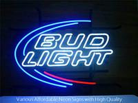 ingrosso bud light signs-24 pollici enorme Bud Light Real segno di vetro al neon Beer Bar Pub luce fatto a mano Artwork regalo trasporto veloce
